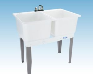 Mustee 22C Utilatwin Combo Laundry/Utility Tub, White