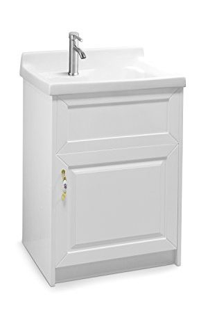 Sink Alexander 24 White Utility Modern Mop Slop Tub Deep Ceramic Laundry Room Vanity Cabinet Contemporary Hardwood Hard